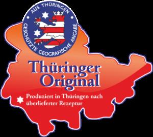 Thueringer Qualitätslogo - verliehen der Fleischerei Schraps für traditionelle Produktion in Thueringen / Gera